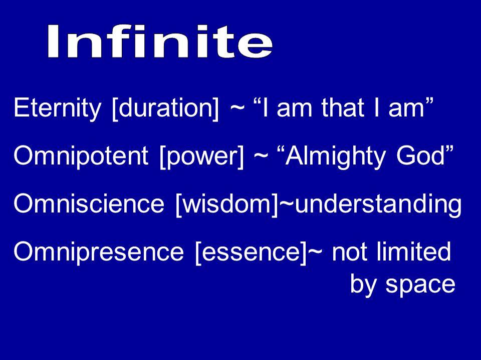 Eternity [duration] ~ I am that I am